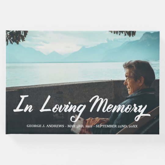 In Loving Memory Script Overlay - Add Photo & Name Guest Book