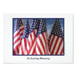 In Loving Memory Service Invitation, Flags 13 Cm X 18 Cm Invitation Card