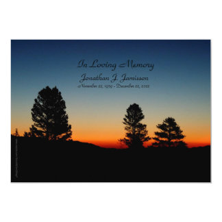 In Loving Memory Service Invitation Sierra Sunrise