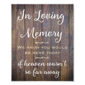In Loving Memory Sign, Wedding Decor, Wedding Sign