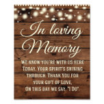 In Loving Memory Sign, Wedding Sign, Wedding Decor Photo