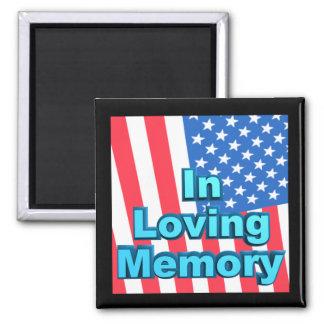 In Loving Memory Square Magnet