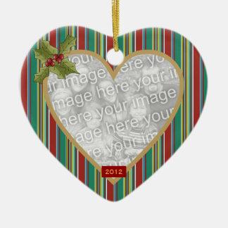 In Loving Memory Striped Heart Ornament