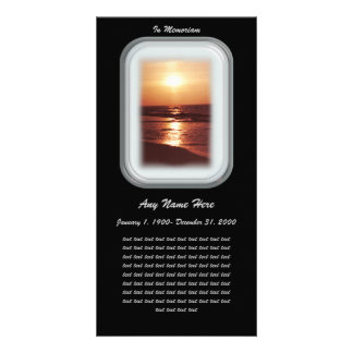 In Loving Memory= Sunset Photo Card Template