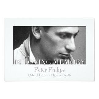 In Loving Memory Template Celebration of Life 9 Cm X 13 Cm Invitation Card