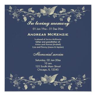 In Memoriam 13 Cm X 13 Cm Square Invitation Card