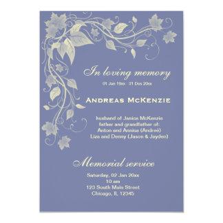 In Memoriam 13 Cm X 18 Cm Invitation Card