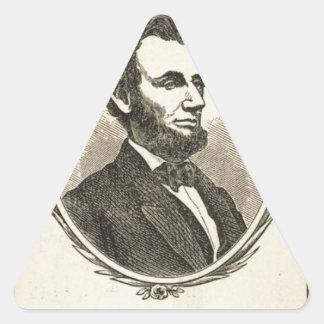 In Memoriam Abraham Lincoln President of the Uni Triangle Stickers