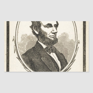 In Memoriam! Abraham Lincoln, President of the Uni Rectangle Stickers