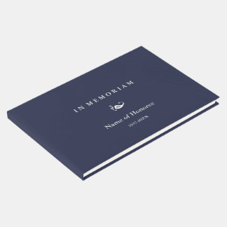 In Memoriam Elegant Memorial Guest Book