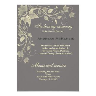 In Memoriam Personalized Invitation