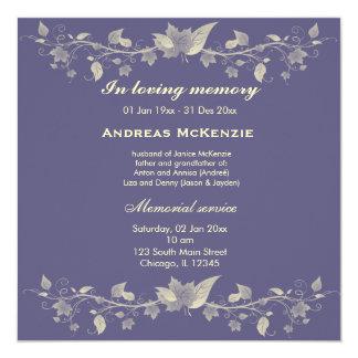 In Memoriam Personalized Invitations