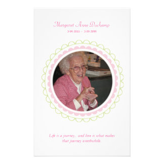 In Memoriam Loving Memory Funeral Photo Hand Out 14 Cm X 21.5 Cm Flyer