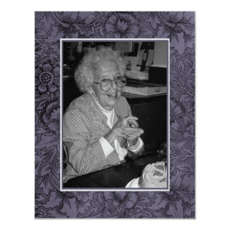 In Memoriam Remembrance Death Notice Photo Card