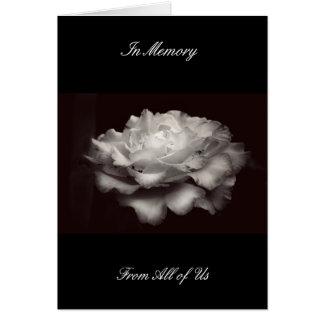 In Memory Card Black White Rose