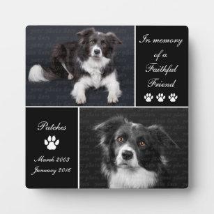In Memory Dog Photo Memorial Keepsake Plaque