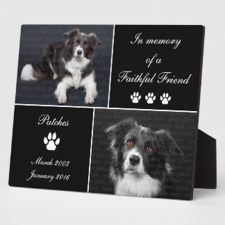 In Memory Dog Tribute Pet Photo Memorial Plaque
