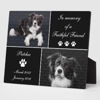 In Memory Dog Tribute Pet Photo Memorial Plaque