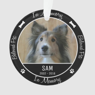 In Memory - Loss of Dog- Custom Photo/Name Ornament