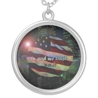 in memory of 9-11-01 new york custom necklace