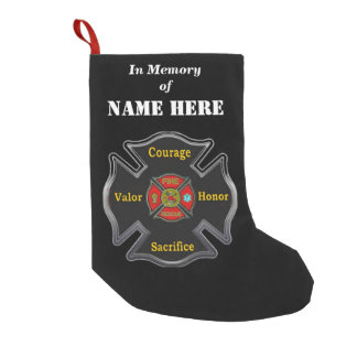 In memory of a Fireman Small Christmas Stocking
