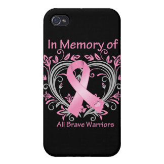In Memory of All Brave Warriors Breast Cancer Cover For iPhone 4