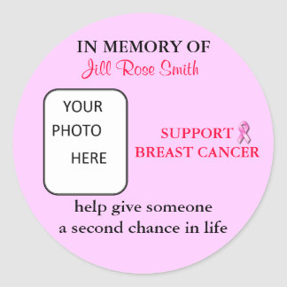 IN MEMORY OF Breast Cancer Sticker