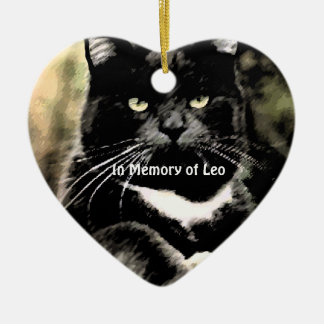 In Memory of Cat Christmas Photo Ornaments