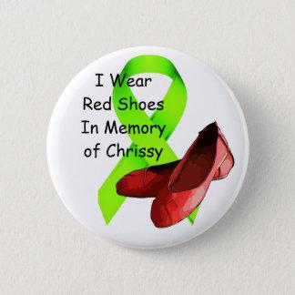 In Memory of Chrissy Pin, Lyme Disease Awareness 6 Cm Round Badge