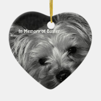 In Memory of Dog Christmas Photo Ornaments