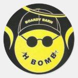 In Memory of H Bomb Boardy Barn Sticker