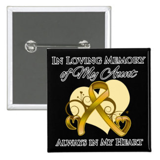 In Memory of My Aunt - Appendix Cancer Pins