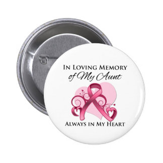 In Memory of My Aunt - Breast Cancer Pins