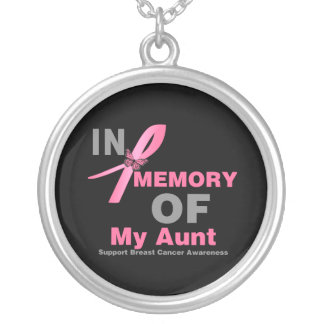 In Memory of My Aunt - Breast Cancer Personalized Necklace