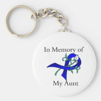 In Memory of My Aunt - Colon Cancer Key Chain