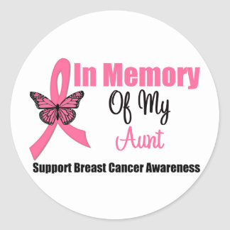 In Memory of My Aunt Round Sticker