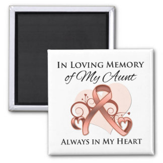 In Memory of My Aunt - Uterine Cancer Magnets