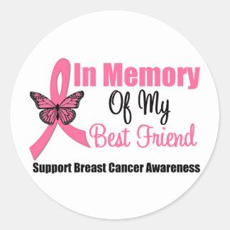 In Memory of My Best Friend Round Sticker