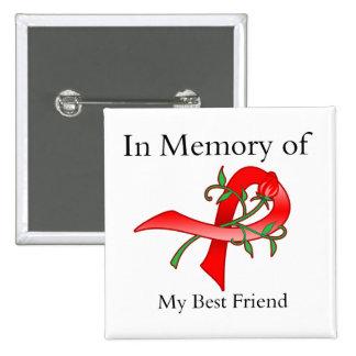 In Memory of My Best Friend - Stroke Disease 15 Cm Square Badge
