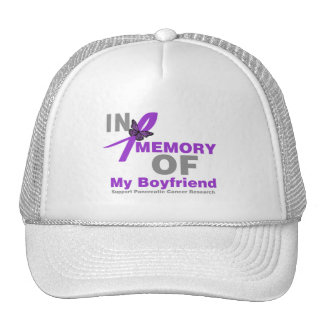 In Memory of My Boyfriend Pancreatic Cancer Cap