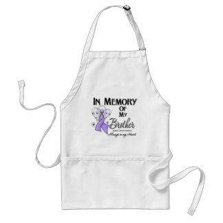 In Memory of My Brother Cancer Awareness Adult Apron