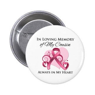 In Memory of My Cousin- Breast Cancer Pin
