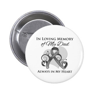 In Memory of My Dad - Brain Cancer 6 Cm Round Badge