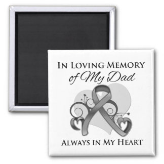 In Memory of My Dad - Brain Cancer Square Magnet