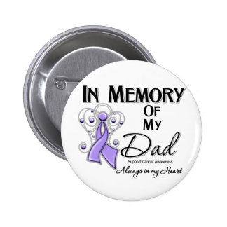 In Memory of My Dad Cancer Awareness 6 Cm Round Badge