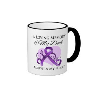 In Memory of My Dad - Pancreatic Cancer Ringer Mug