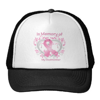 In Memory of My Godmother Breast Cancer Heart Cap
