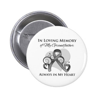 In Memory of My Grandfather - Brain Cancer Pinback Button