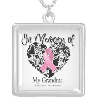 In Memory of My Grandma - Breast Cancer Awareness Jewelry