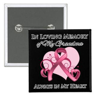 In Memory of My Grandma - Breast Cancer Pin